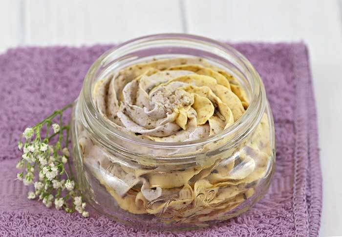 Calendula and Lavender Fluffy Whipped Soap Recipe for Dry Skin