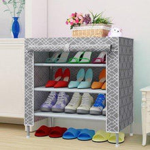 Load image into Gallery viewer, 4 Layers 3 Slots Shoe Organizer Dust proof Shoe Storage Shelf Rack