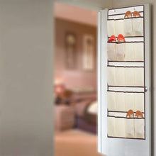 Load image into Gallery viewer, 20 Pocket Over the Door Shoe Organizer Rack Hanging Storage Space Saver Hanger