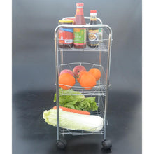 Load image into Gallery viewer, 2017 Storage Shelf Kitchen Prateleira Vegetable Rack Three layers multifunction Fruit Shelf Bathroom The movable trolleys racks