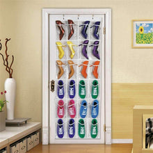 Load image into Gallery viewer, 24 Non-Woven White Door Hanging Shoe Organizer