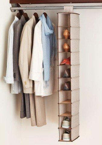 10 Shelf Hanging Shoe Organizer