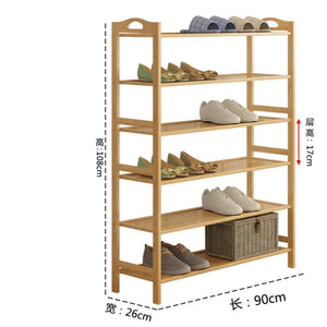 GX&XD Simple Multi-Layer Bamboo Shoe Rack,Dust-Proof Multifunction Shoe Tower Shoe Cabinet Space Saving Easy to Assemble Shoe Organizer Unit entryway Shelf Organize Your Closet Cabinet or entryway-R
