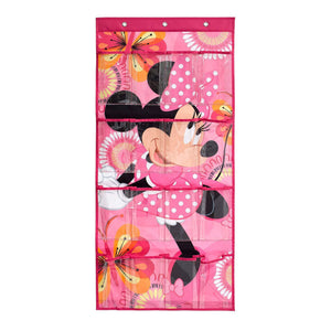 Minnie Mouse Shoe Organizer by Disney | 16-Pocket Hanging Shoe Organizer for Closet and Bedroom Storage | Disney Over The Door Shoe Organizer for Children, Kids Toys