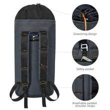 Load image into Gallery viewer, Budget zero jet lag 70 l extra large laundry bag heavy duty backpack with straps pockets hanging laundry hamper college essentials storage basket storage bag dorm homedark grey xl