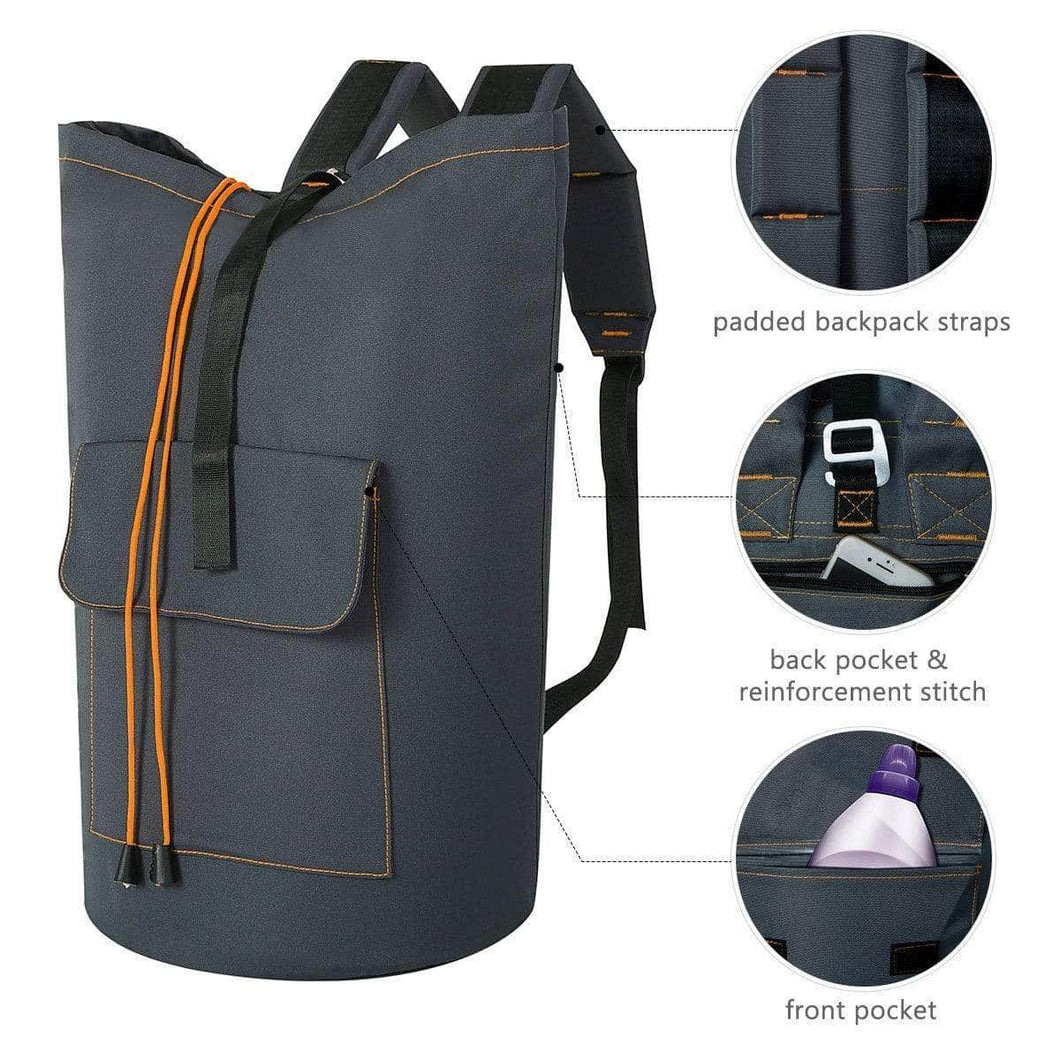 Try zero jet lag 70 l extra large laundry bag heavy duty backpack with straps pockets hanging laundry hamper college essentials storage basket storage bag dorm homedark grey xl