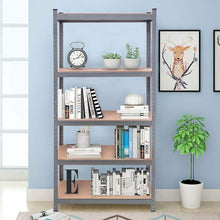 Load image into Gallery viewer, Selection tangkula 5 tier storage shelves space saving storage rack heavy duty steel frame organizer high weight capacity multi use shelving unit for home office dormitory garage with adjustable shelves 4 pcs