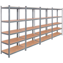 Load image into Gallery viewer, Select nice tangkula 5 tier storage shelves space saving storage rack heavy duty steel frame organizer high weight capacity multi use shelving unit for home office dormitory garage with adjustable shelves 4 pcs