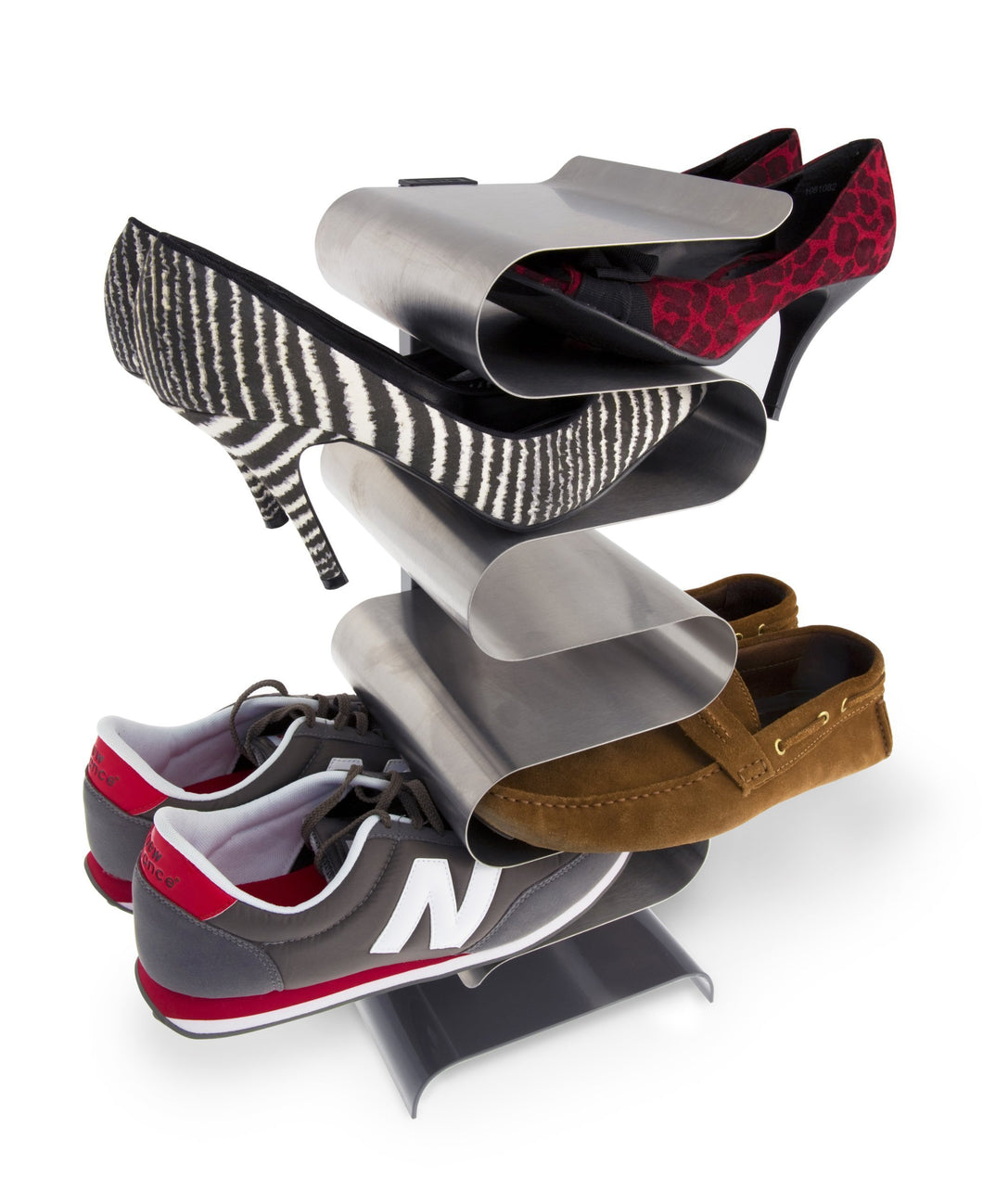 j-me Nest Freestanding Shoe Rack - Shoe Organizer Keeps Shoes, Boots, Sneakers and Sandals Off The Floor. A Great Shoe Storage Solution for Your Entryway, Living Room, Bedroom or Closet.