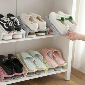 2Lattice Shoe Organizer Stereoscopic Shoe Organize Shelve Shoe Rack Frame