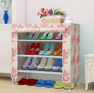 4 Layers 3 Slots Shoe Organizer Dust proof Shoe Storage Shelf Rack