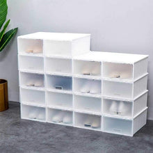 Load image into Gallery viewer, DIY Shoe Rack Portable Shoe Storage Organzier Plastic Stackable Storage Shoe Box