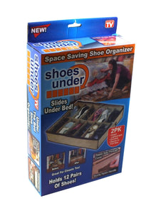 12 PAIR Under Bed Under Bed Shoes Storage Space Saving Shoe Organizer Bag Box 3842