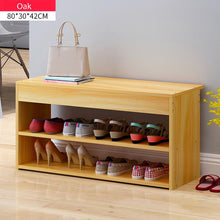 Load image into Gallery viewer, Wooden Shoe Rack Bench Shoe Organizer