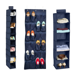 3-Piece Closet Organization Kit, Navy