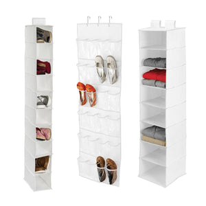 3-Piece Closet Organization Kit, White