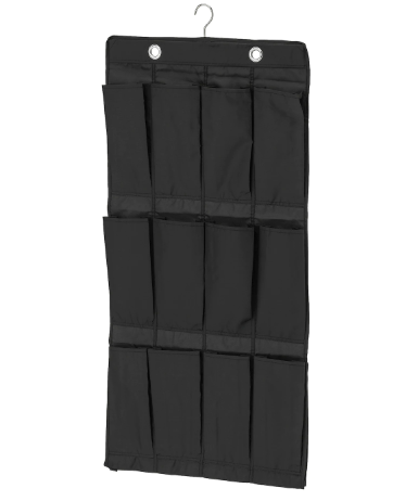 IKEA SKUBB Hanging shoe organizer with 16 pockets - Black
