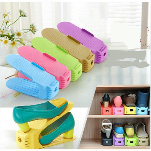 Pack Of 4 Plastic Shoe Organizers