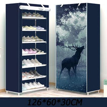 Load image into Gallery viewer, Anime Pattern Multi-layer Dustproof Cloth Shoe Cabinet DIY Home Shoe Storage Rack 3 sizes