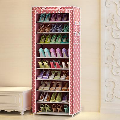 9 Tier Modern Shoe Shelves Oxford Cloth Shoe Stool Storage Cabinet Multipurpose Shoes Rack DIY Shoes Organizer Case Space Saver