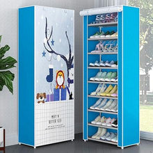 Load image into Gallery viewer, 10 Layers 9 Grids Cloth Shoe Storage  Rack Dustproof Assembly  Home Orgnization