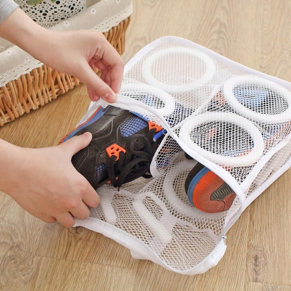 150ml Mesh Laundry Shoes Bags Dry Shoe Organizer Portable Washing Bags 3D fashion Storage Organizer Bag Home Organizer