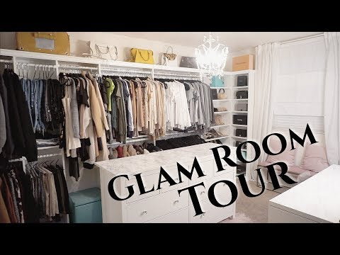Glam Room Tour | Organizing Closet & Bathroom | Francesca Fox