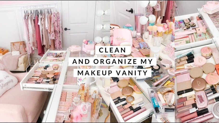 CLEANING AND ORGANIZING MT MAKEUP VANITY! Subscribe now for more beauty and fashion videos!