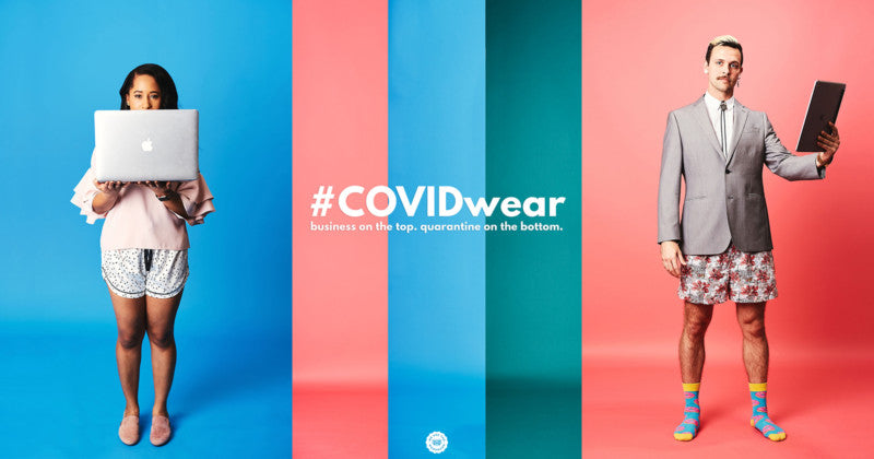 #COVIDwear Portraits: Business on the Top, Quarantine on the Bottom