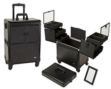 Load image into Gallery viewer, 4 Wheel Spinner Rolling Makeup Case with 5 Trays