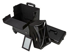Load image into Gallery viewer, 4 in 1 Rolling Professional Makeup Case w/ 4 360 Spinning Wheels