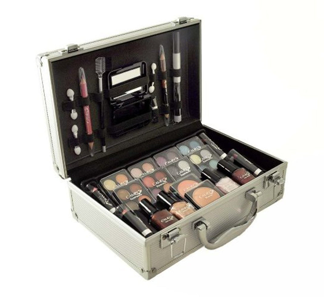 Carry All Trunk Train Case with Makeup and Reusable Aluminum Case