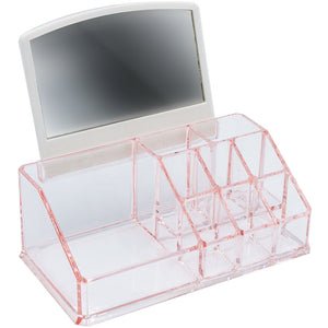 Order now sorbus acrylic cosmetic makeup organizer with mirror beauty skincare jewelry storage case with removable mirror compact design for bathroom dresser vanity pink
