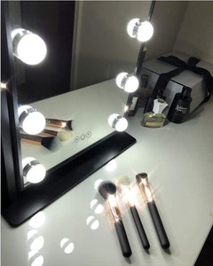 Top lighted vanity mirror with 12 dimmable led bulbs and touch control design 3 color lighting modes large hollywood style makeup cosmetic mirrors with lights for dressing table