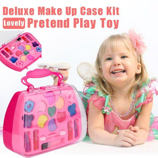 Girl's Pretend Play Toy Deluxe Makeup Palette Set
