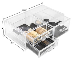 Products sorbus acrylic cosmetics makeup and jewelry storage case display sets interlocking drawers to create your own specially designed makeup counter stackable and interchangeable