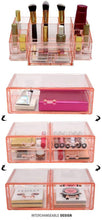 Load image into Gallery viewer, Save on sorbus acrylic cosmetics makeup and jewelry storage case display sets interlocking drawers to create your own specially designed makeup counter stackable and interchangeable pink 1