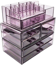 Load image into Gallery viewer, Shop for sorbus cosmetics makeup and jewelry storage case display sets interlocking drawers to create your own specially designed makeup counter stackable and interchangeable purple