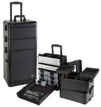 Load image into Gallery viewer, Professional 3 in 1 Rolling Makeup Case with Drawers
