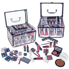 Load image into Gallery viewer, Carry All Trunk Professional Makeup Kit - Eyeshadow,Pedicure,manicure With Black Trim...
