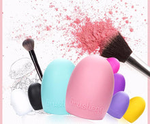 Load image into Gallery viewer, Brushegg Makeup Brush Cleaning Silicone make up brush Cleaner Finger brush cleaning Glove