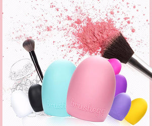 Brushegg Makeup Brush Cleaning Silicone make up brush Cleaner Finger brush cleaning Glove