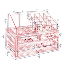 Load image into Gallery viewer, #COMS8246 Diamond Pattern Acrylic Jewelry & Cosmetic Organizer