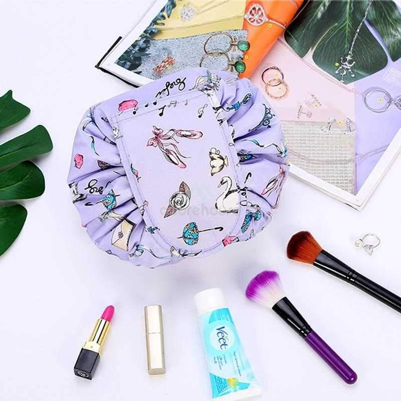 Waterproof Travel Holder Toiletry Storage Pouch Drawstring Cosmetic Bag Organizer