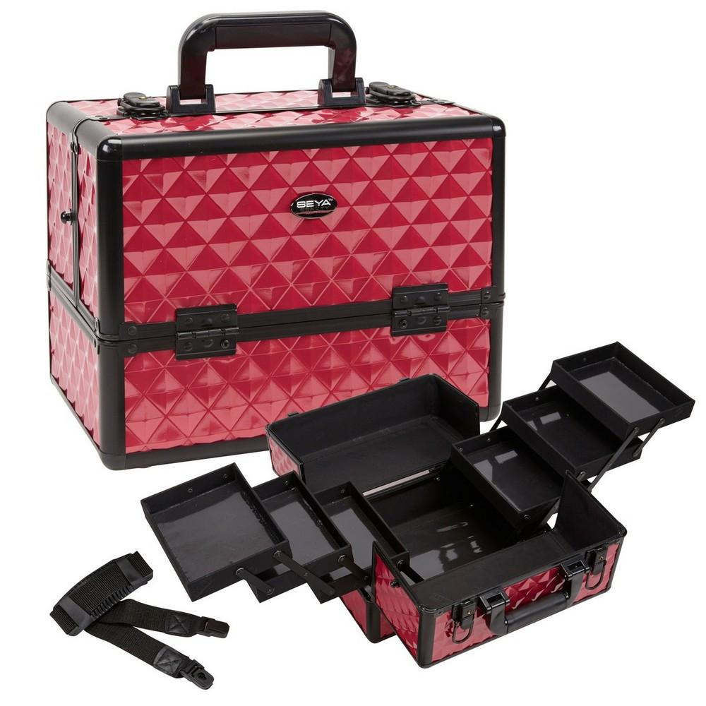 Cosmetic Makeup Case w/ Six Pull Out Trays