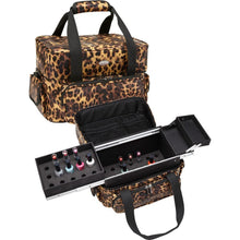 Load image into Gallery viewer, Soft Sided Nail Makeup Artist Polish Storage Case w/ Removable Trays