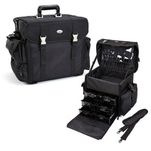 Load image into Gallery viewer, Pro Soft Sided Carry On Cosmetic Case w/ Trays