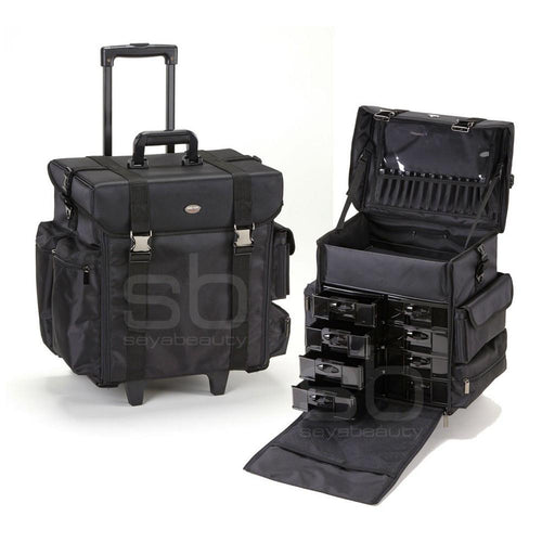 Professional Soft Sided Rolling Makeup Case w/ Drawers