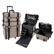 Load image into Gallery viewer, 2 in 1 Professional Rolling Makeup Case Set with Drawers
