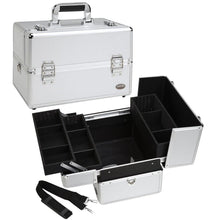 Load image into Gallery viewer, Professional Makeup Train Case w/ 3 Trays
